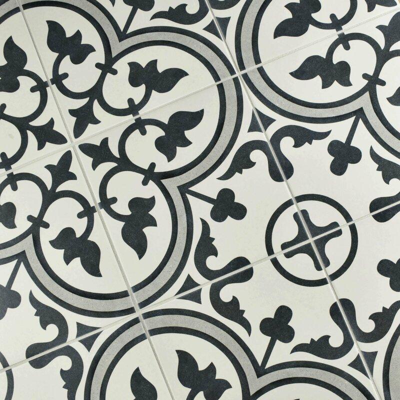 Artea 9 75 Quot X 9 75 Quot Porcelain Field Tile In Dark Gray