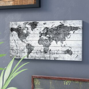 World map wall art lost in the world by parvez taj painting print on white wood gumiabroncs Gallery