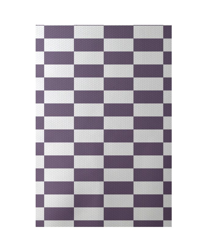 E By Design Plaid Teal Indoor/Outdoor Area Rug & Reviews