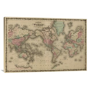 World map push pin wayfair world map print on canvas gumiabroncs