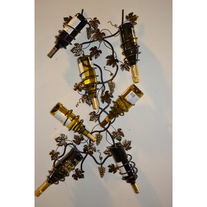 7 Bottle Wall Mounted Wine Rack