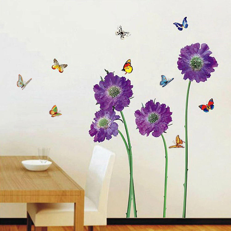 Erstaunlich Wandtattoo Blume Dekoration Von