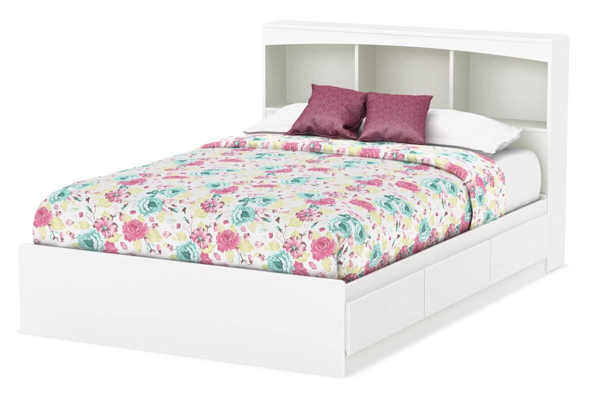 100 step one collection queen platform bed with drawers pla