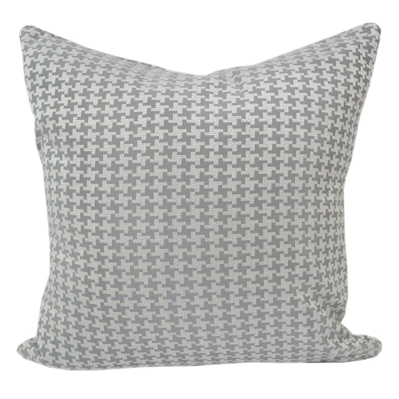 Alcott Hill Jessamine Houndstooth Throw Pillow Wayfair Simple Black And White Houndstooth Throw Blanket