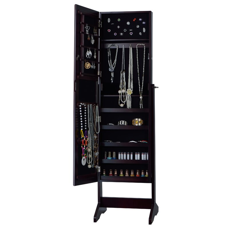 InnerSpace Luxury Products Cheval Jewelry Armoire with ...