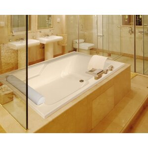 Designer Duo 72  x 48  Whirlpool BathtubDrop In Tubs You ll Love   Wayfair. Whirlpool Insert For Bathtub. Home Design Ideas
