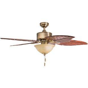 52 Sabal Palm Tropical 5 Blade Led Ceiling Fan