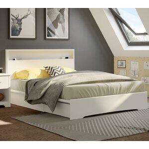 basic queen storage platform bed