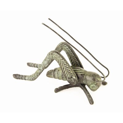 World Menagerie Barefoot Brass Cricket Finish: Verdigris