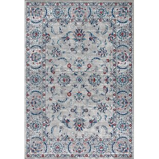 Lazo Modern Persian Vintage Light Gray/Light Pink Area Rug By Charlton Home