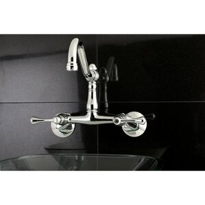 Kingston Brass Vintage Double Handle Wall Mount Kitchen Faucet