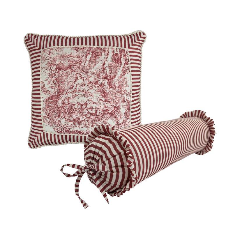 Sherry Kline Elizabethan 40 Piece Toile Decorative Pillow Set Wayfair Awesome Toile Decorative Pillows