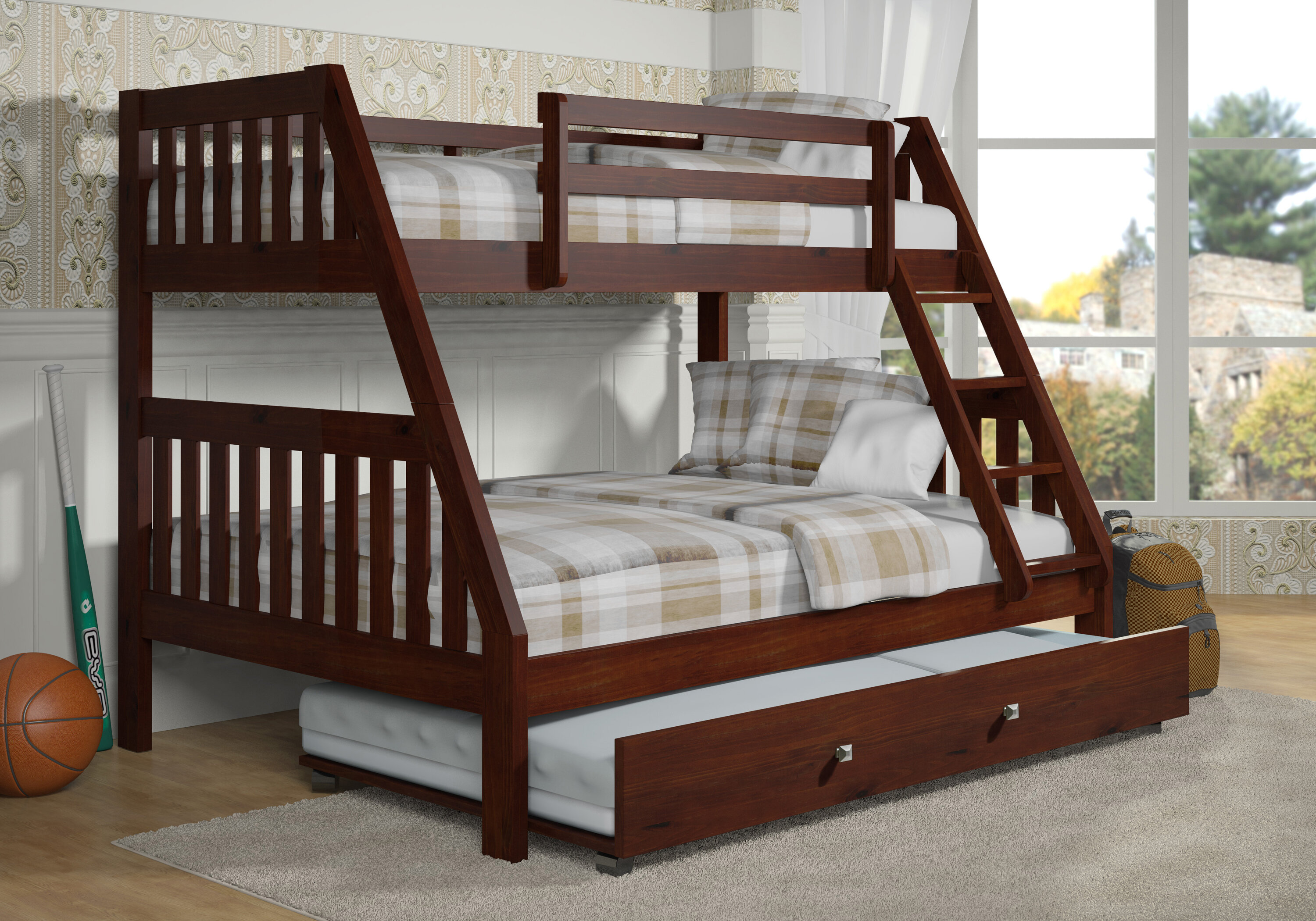 Harriet Bee Chancey Twin Over Full Bunk Bed With Trundle Reviews