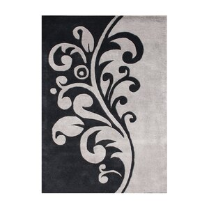 Daniel Hand-Tufted Black/Flint Gray Area Rug