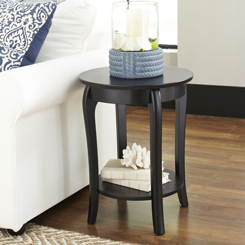 Alberts Round Side Table Reviews Birch Lane