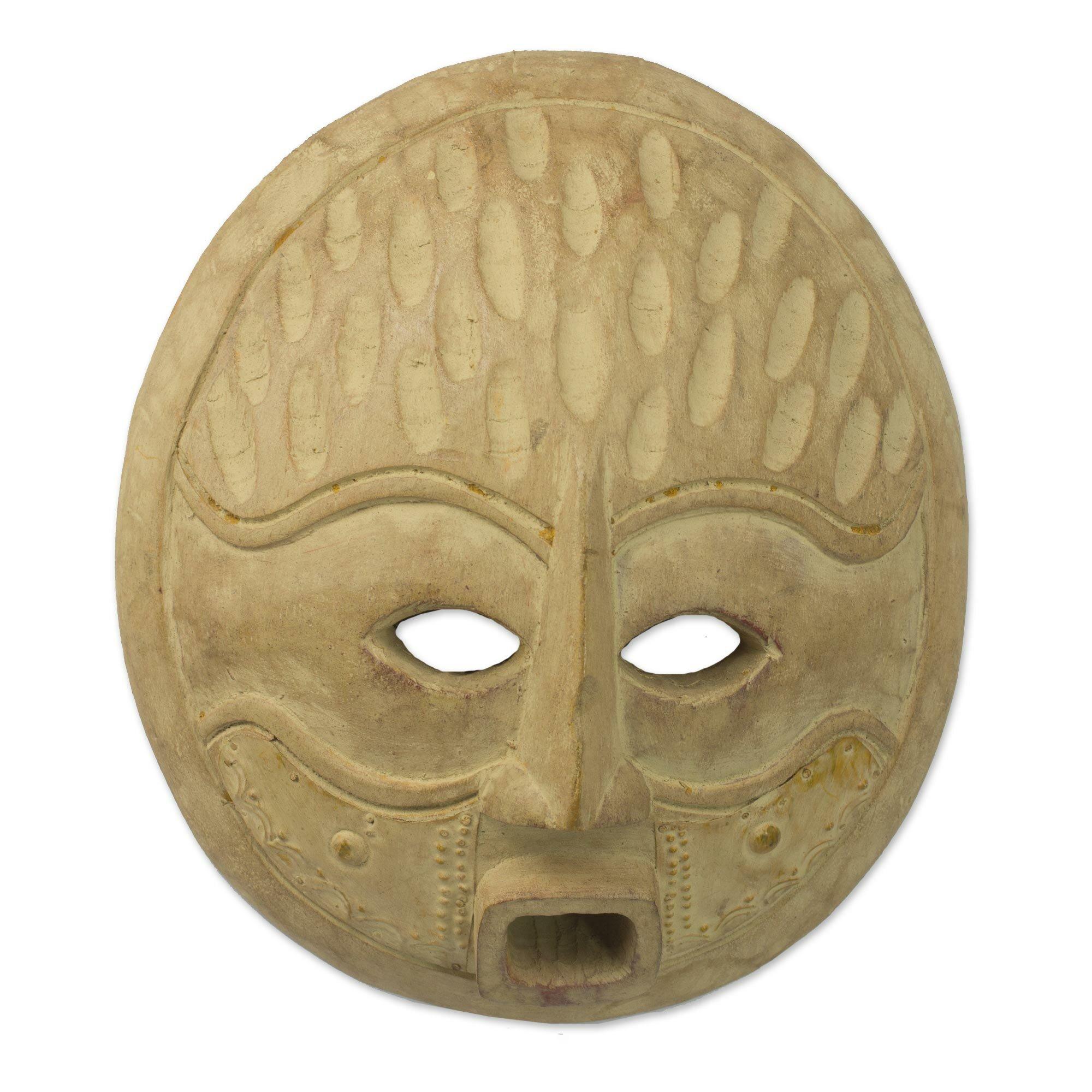 Novica Artisan Crafted Wood Mask Wall Décor | Wayfair