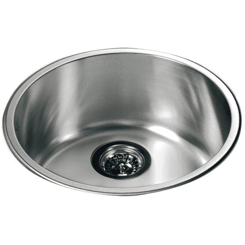 16 5 X Top Mount Round Single Bowl Kitchen Sink
