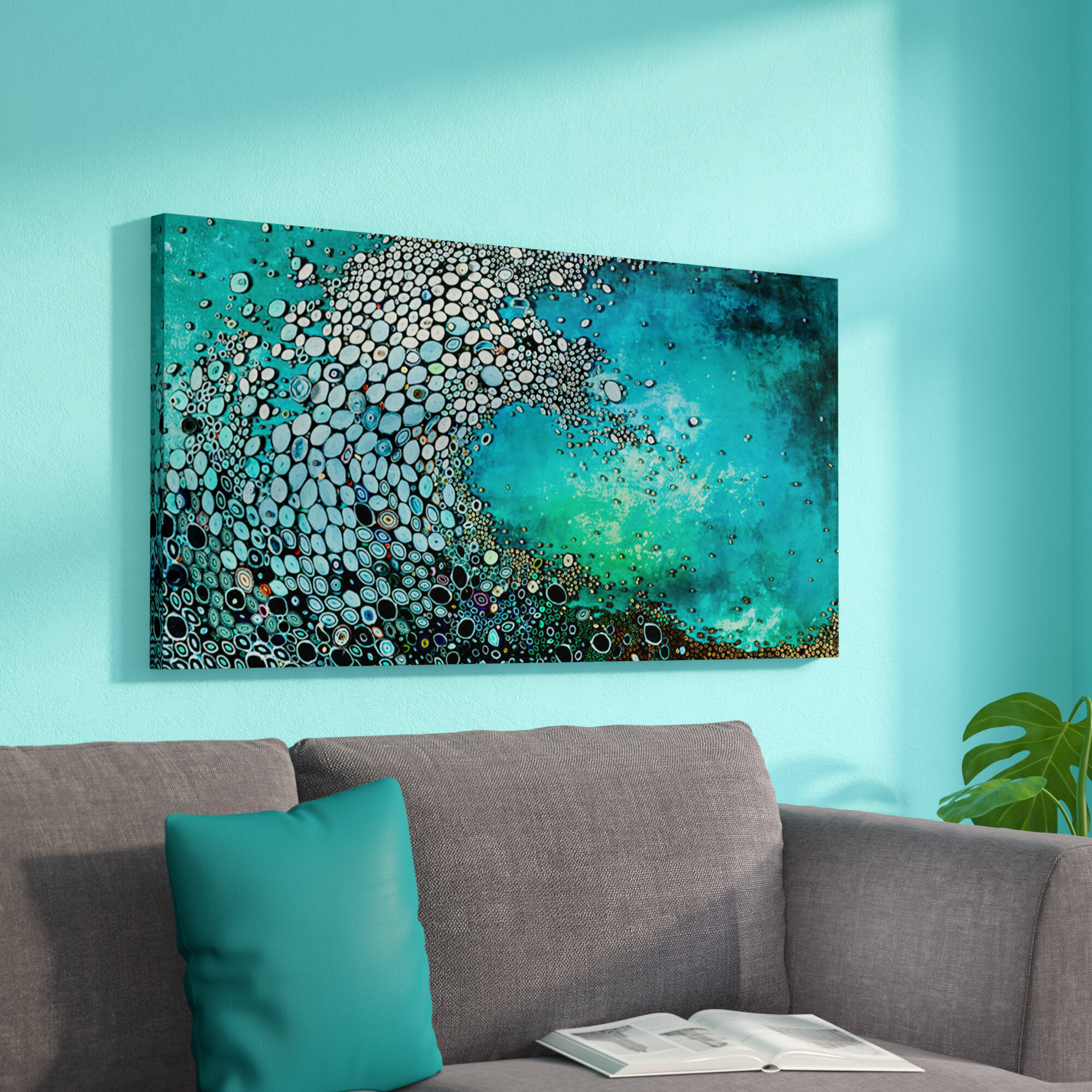 Zipcode Design Crashing Down Painting Print On Wrapped Canvas &