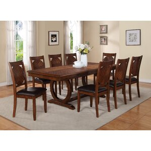 Tavera 9 Piece Dining Set by World Menagerie