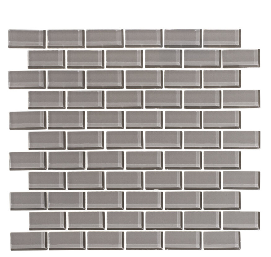 Viccidesign 2 X 1 Glass Subway Tile In Taupe Gray Wayfair