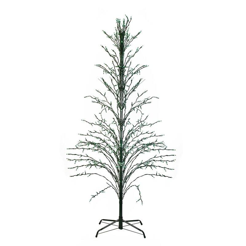 northlight lighted christmas cascade twig tree outdoor. Black Bedroom Furniture Sets. Home Design Ideas