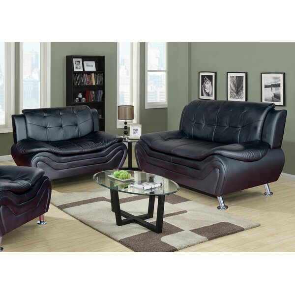 Latitude Run Algarve Leather 2 Piece Living Room Set U0026 Reviews | Wayfair Part 10