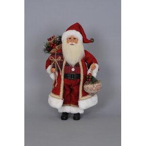 Christmas Woodland Noel Santa Figurine
