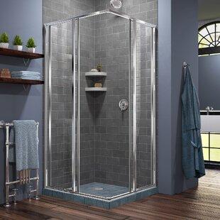 Cornerview 34 5 X 72 Square Sliding Shower Enclosure