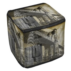 Metropolitan Collage 1 Ottoman by Manual Woo..