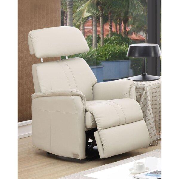 hyde line furniture padua leather layflat recliner chair & reviews