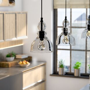 Industrial pendant lights youll love wayfair kaitlynn 1 light bell pendant aloadofball
