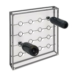 16 Bottle Wall Mounted Wine Bottle Rack