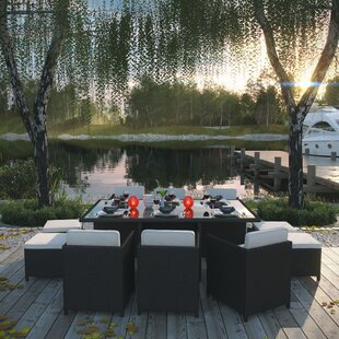 Doubleback 11 Piece Outdoor Patio Dining Set With Cushions
