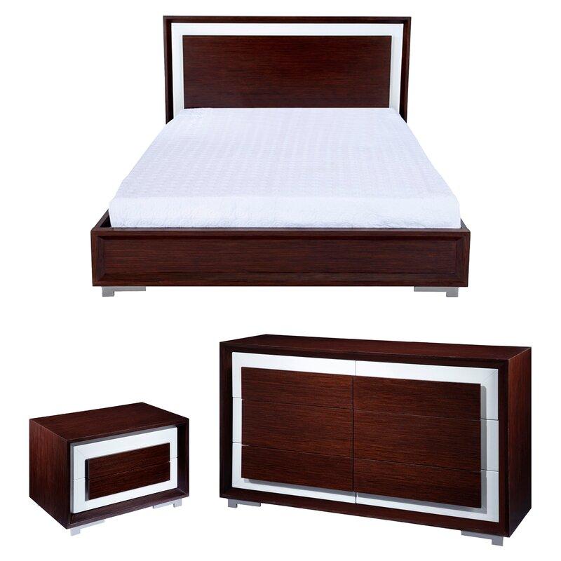 CJ Queen Platform Configurable Bedroom Set