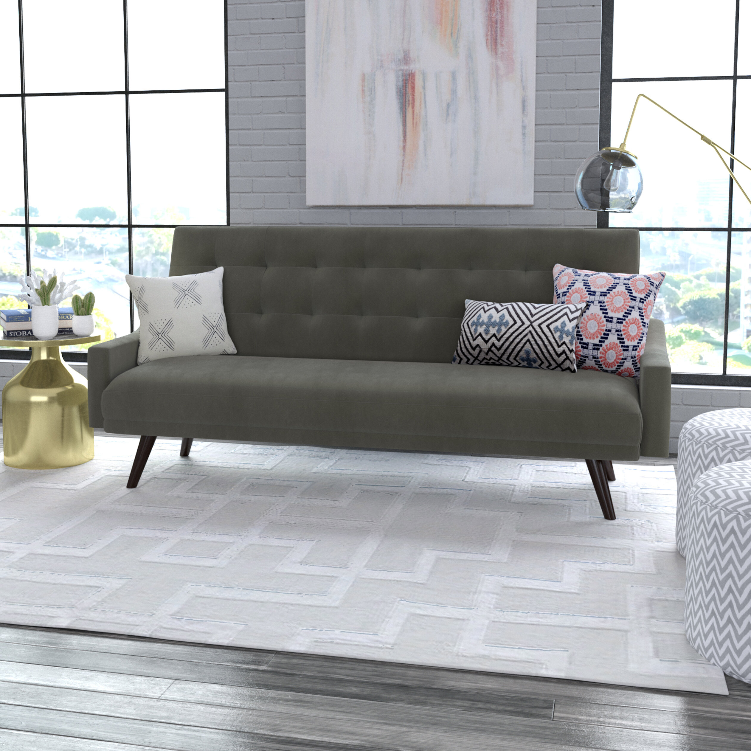 creme sleepers sofa trundle up out crevere pull with style clack sofas couch dempsey futon livingroom novak furniture pop click daybed