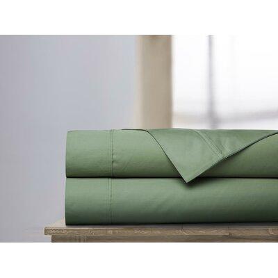 600 Thread Count 100% Cotton Sheet Set Ardor Home Color: Loden, Size: King