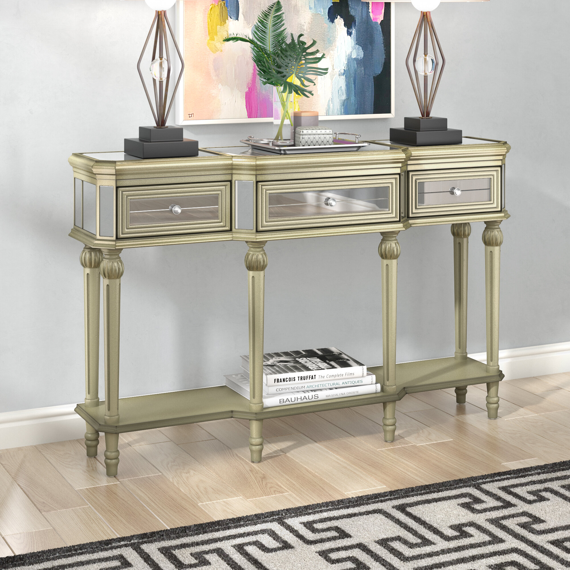 Miraculous Poston 3 Drawer Console Table Interior Design Ideas Oxytryabchikinfo