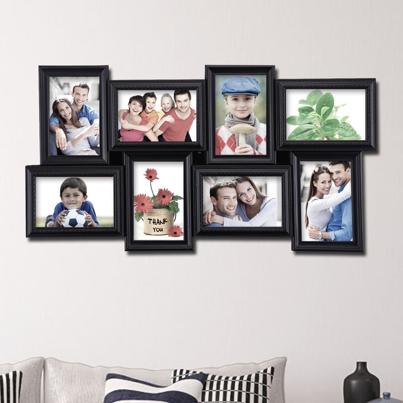 8 Opening Decorative Wall Hanging Collage Picture Frame & Reviews ...