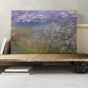 'Water Lilies No.4' by Claude Monet Painting Print on Canvas