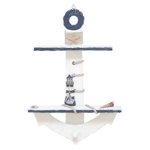 Anchor Wood Accent Shelf