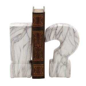 Words and Text Ceramic Book Ends