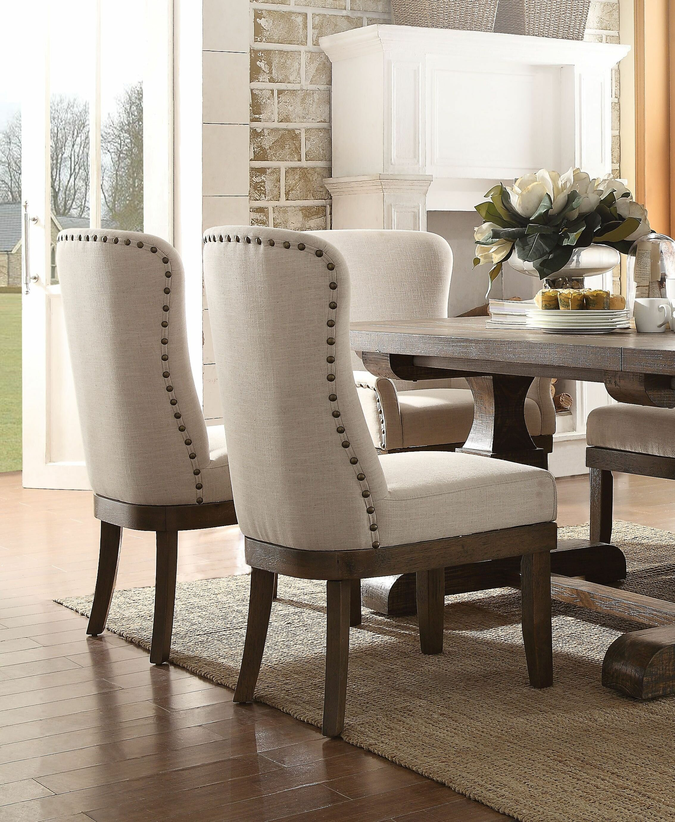 Gracie Oaks Onsted Upholstered Dining Chair Reviews Wayfair - Curved-upholstered-dining-chair