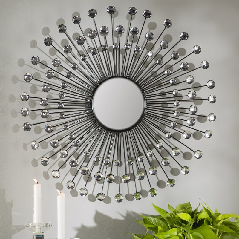 Willa Arlo Interiors Estrela Modern Sunburst Metal Wall Mirror Reviews