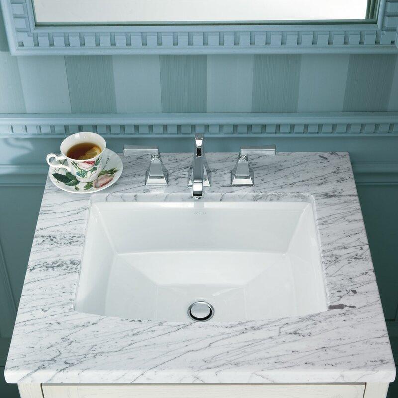 Bathroom Sinks Reviews kohler archer rectangular undermount bathroom sink & reviews | wayfair