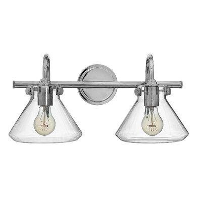 Ebern Designs Dingess 2-Light Vanity Light Finish: Chrome