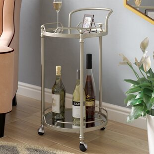 Shadwell Round Mirror Bar Cart