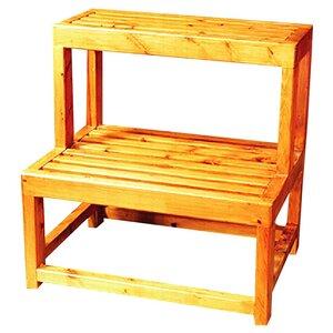 Multi-Purpose 2-Step Wood Step Stool with 550 lb. Load Capacity