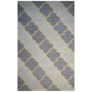 wool handtufted ivorypurple area rug