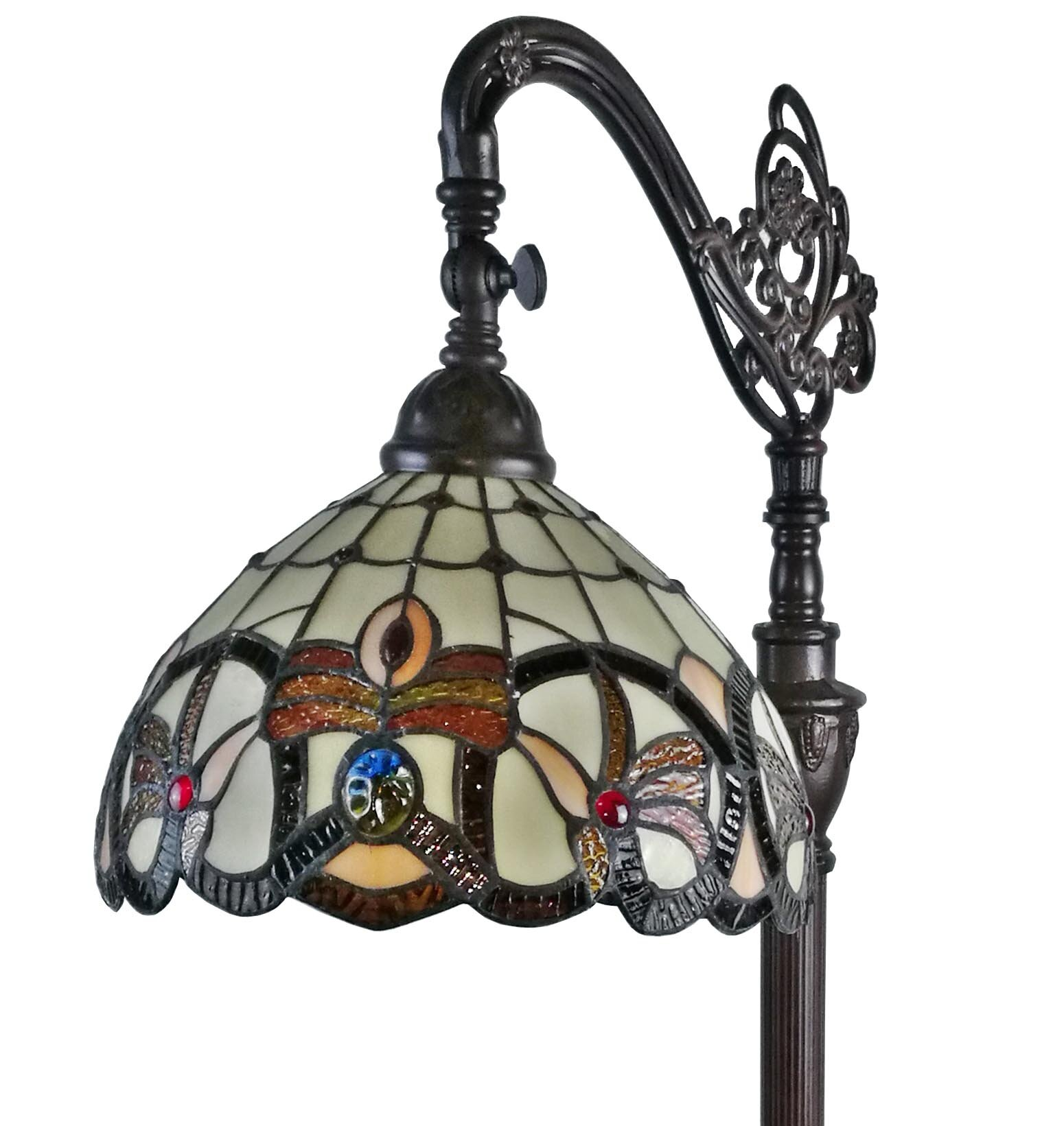 Amoralighting tiffany style 62 arched floor lamp reviews wayfair mozeypictures Choice Image