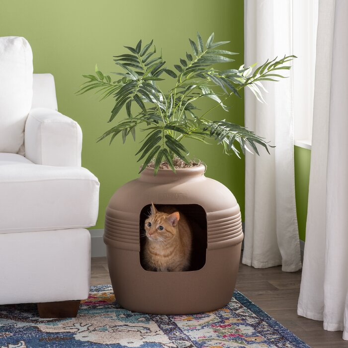 Archie Oscar Elijah Covered Hidden Cat Litter Box With Decorative